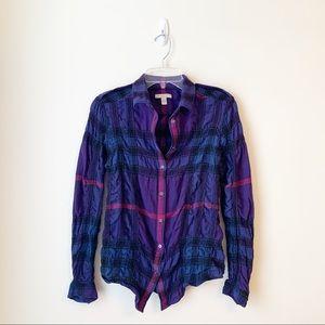 GUC - Burberry Brit - Wool Blend Plaid Button Down